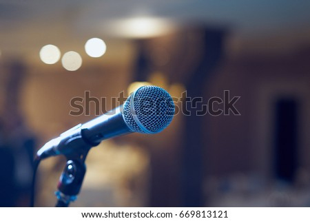 microphone in concert hall or...