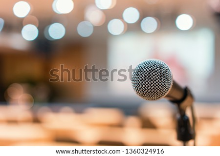 Microphone in meeting room for a conference.