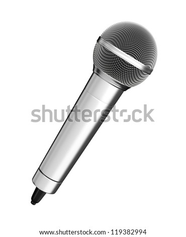 Microphone - isolated on white background