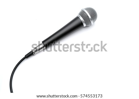 Microphone isolated on white background - Shutterstock ID 574553173