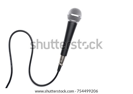Microphone isolated on white background - Shutterstock ID 754499206