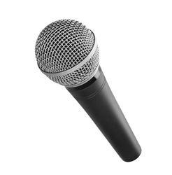 Microphone isolated on white background with clipping path