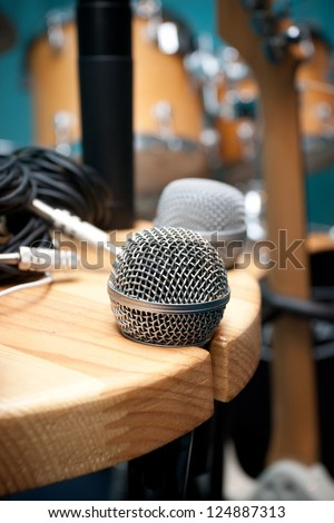 Microphone on a stand
