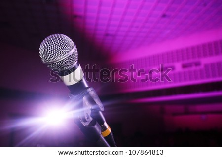 Microphone on stage.