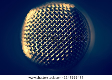 microphone on stage. close-up macro #1145999483