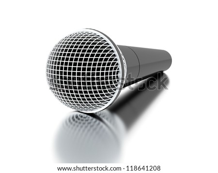 Microphone rendered isolated with highlights