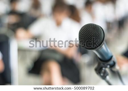 microphone soft focus on blur...