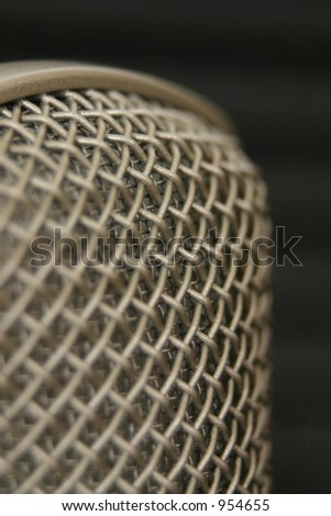 Microphone studio close up