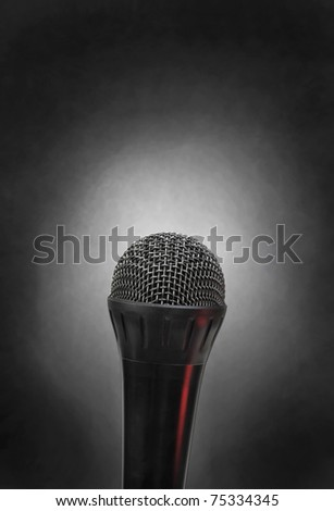 Microphone with lots of room for your type. - stock photo