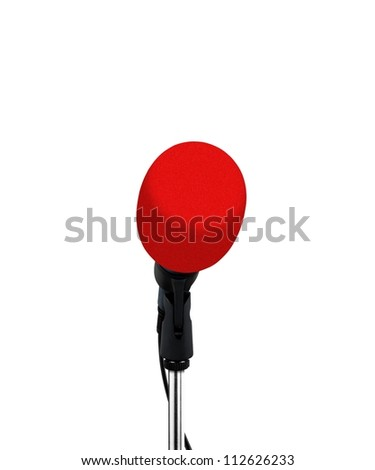 microphone with red cover