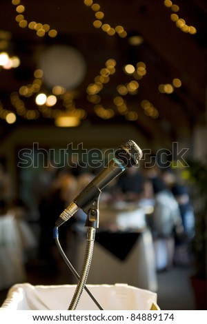 microphone with  soft lighting - stock photo