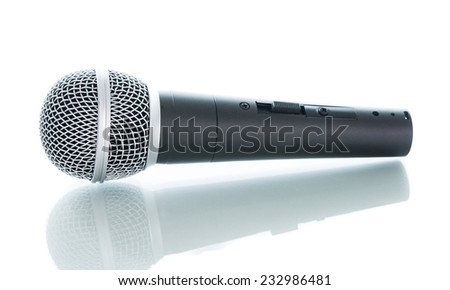 microphone without cable isolated on white over background