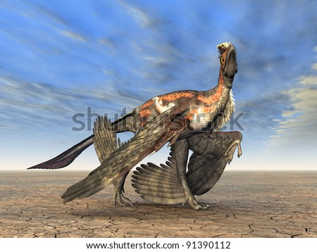 Microraptor Computer generated 3D illustration