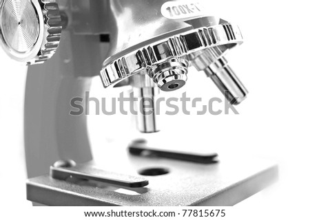 microscope black and white close up