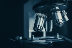 microscope close-up in science laboratory