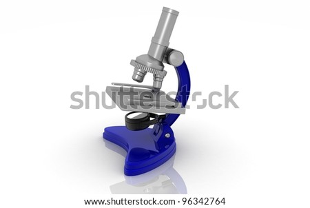Microscope isolated on white background - 3d render