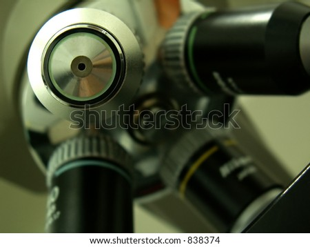 microscope lens from medical or research laboratory