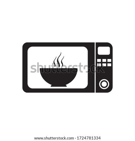 Microwave icon. Microwave flat icon. Microwave oven symbol logo illustration.