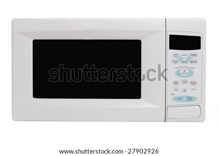 microwave oven isolated (Russian text on buttons)