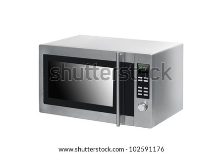 microwave oven on background
