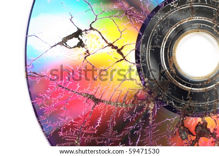 Microwaved CD-ROM