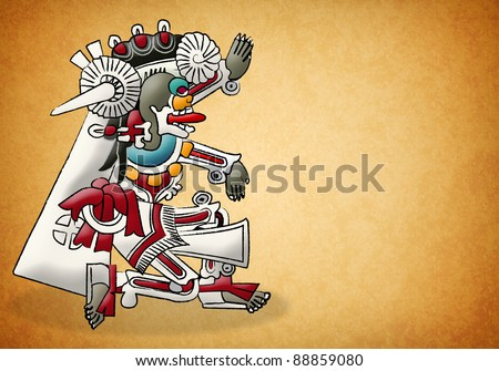 Mictlan mayan - aztec deity - lord of the underworld