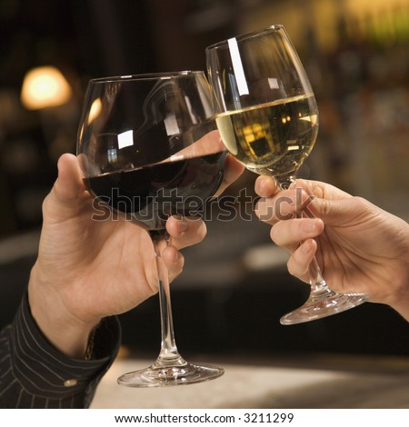 Wine Glasses Toasting