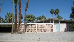Mid-century modern home in Palm Springs, California