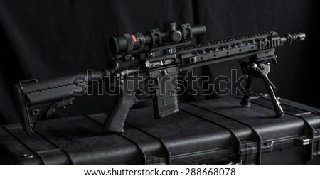 mid length rifle on rifle case