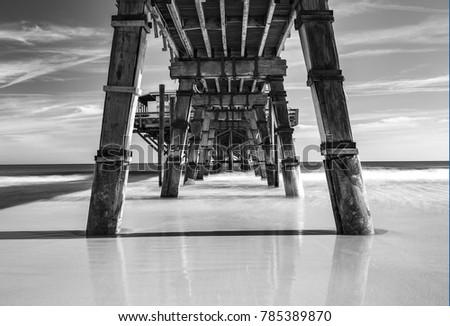 Mid Morning at the Sun Glow Pier in Daytona Beach Florida. #785389870