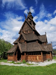 Middle age Stavkirke in norway