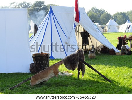 middle aged camp for battle