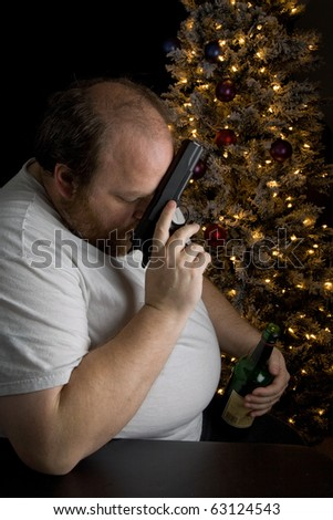 Middle-aged man dealing with seasonal depression
