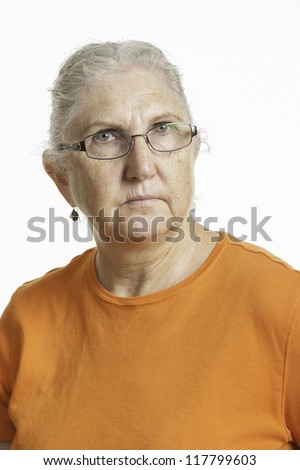 Middle-aged woman looking concerned
