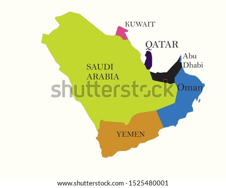 Middle East Countries. Geographical location of Middle East Countries