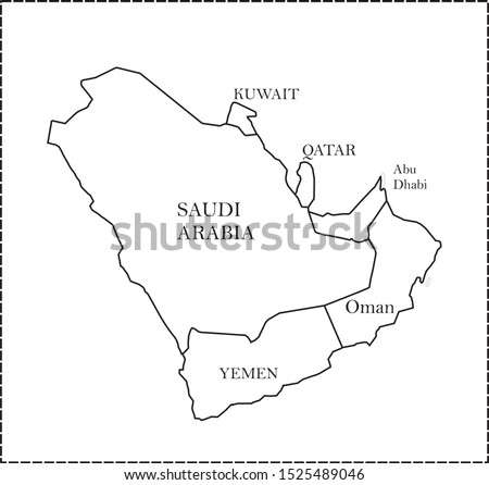 Middle East Countries Outline Map.G Geographical Map of Saudi Arabia and Middle East Countries