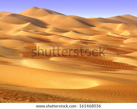 Middle East desert - colourful patterns of the Liwa Desert, which is part of the Rub al Khali Desert or Empty Quarter desert, straddling UAE, Oman, Yemen and Saudi Arabia