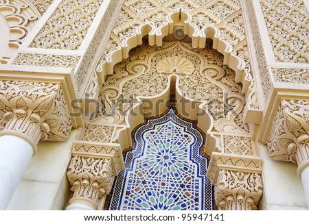 Middle east or Moroccan architecture traditional design