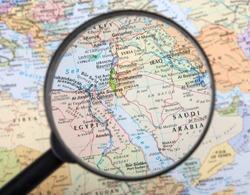 Middle East under magnifier