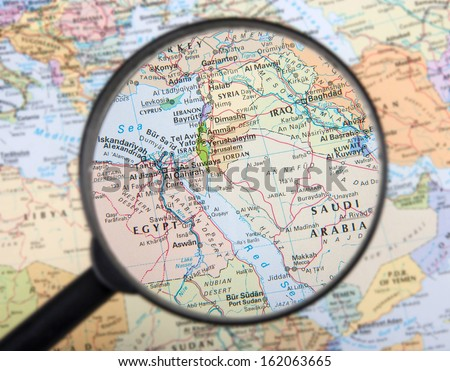 Middle East under magnifier