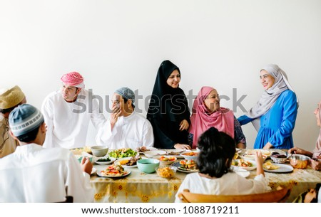 Middle Eastern Suhoor or Iftar meal