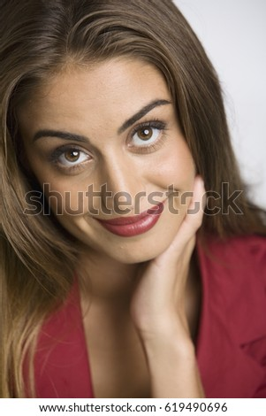 Middle Eastern woman smiling - Shutterstock ID 619490696