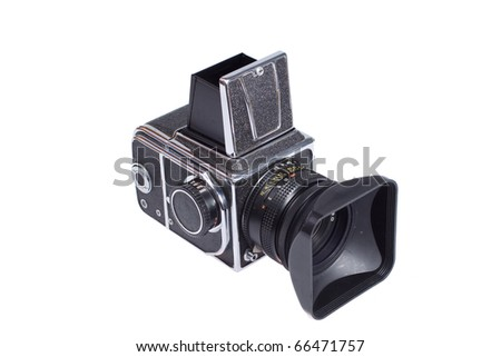 Middle-format camera isolated on white