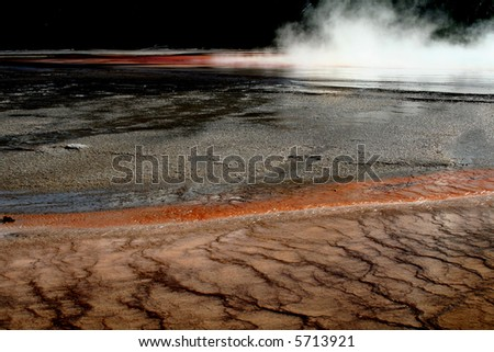 Middle geyser, Yellowstone National Park