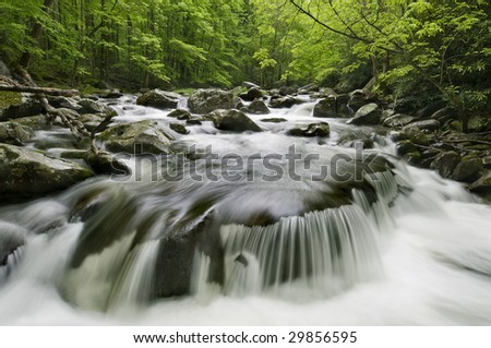 Middle Prong Little River, in Great Smoky Mountains National Park, border of North Carolina and Tennessee