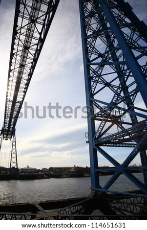 Middlesbrough Transporter Bridge in the North East of England