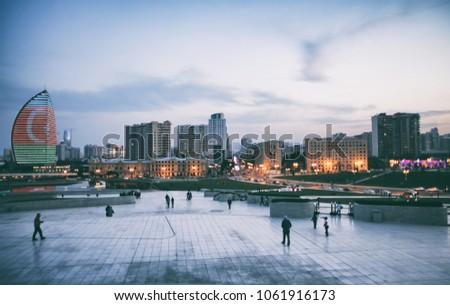 Midnight Baku Azerbaijan - Aliev Squere