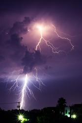 Midsummer lightning