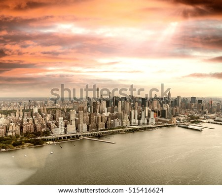 Midtown Manhattan as seen from the helicopter. #515416624