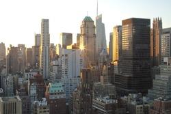 Midtown Manhattan, New York at Sunset